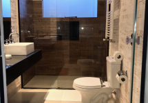Banheiro piso aquecido
